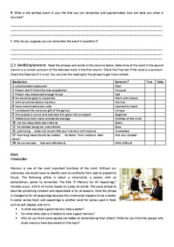 Mosaic 2 chapter 6 student worksheet