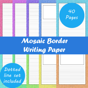 Mosaic Border Writing Paper