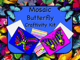 Mosaic Butterfly Craftivity Kit Print and Go - NO PREP - Great for Geometry!!
