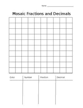 Mosaic Fractions and Decimals