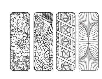 Mosaic Mandala DIY Coloring Page Bookmark