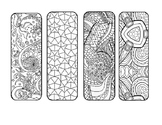 Mosaic Mandala DIY Coloring Page Bookmark