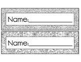 Mosaic Mandala DIY Alphabet Name Plate Desk Tag Coloring P