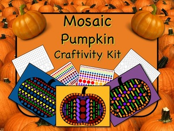 Mosaic Pumpkin Craftivity Kit Print and Go - NO PREP - Great for Geometry!!