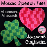 Mosaic Speech Tile Crafts {seasonal and year round therapy craftivities}