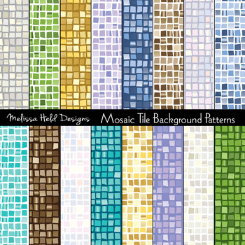Mosaic Tile Background Patterns