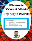 Mosaic Word Wall Words and Letter Labels