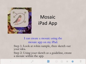 Mosaic iPad app Art Lesson