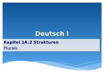 Mosaik 1 - German - Chapter Kapitel 1A Plurals