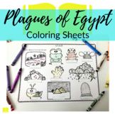 Moses + 10 Plagues in Egypt Coloring Sheets for Sunday Sch