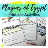 Moses + 10 Plagues in Egypt Printable Activity Sheets for