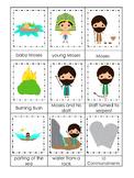 Moses 3 Part Matching Game. Preschool Bible History Curriculum Studies. Math gam