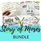 Moses BUNDLE   Birth of Moses + Moses and the 10 Plagues of Egypt Activities