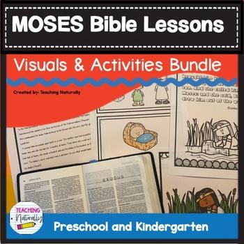 Moses Bible Lesson Bundle ( All About Series) (Preschool/Kindergarten)