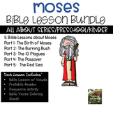 Moses Bible Lesson Bundle ( All About Series) (Preschool/K