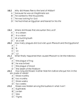 Moses Bible Test