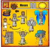 Moses Clip Art - by Charlotte's Clips from Bible Series