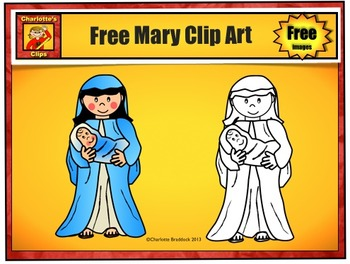 Free Mary Clip Art Sample from Charlotte's Clips: Catholic - Christian Series