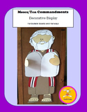 Moses Craft - Ten Commandments Decorative Display and Craftivity