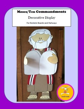 Moses Craft - Ten Commandments Decorative Display and Craftivity