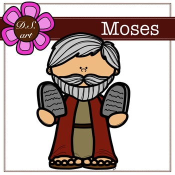 Moses Digital Clipart (color and black&white)