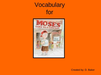 Moses Goes to Concert Vocabulary Houghton Mifflin Series