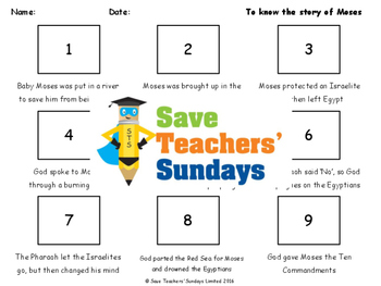 Moses Lesson plan and Worksheets