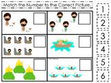 Moses Match the Number Game. Preschool Bible History Curriculum Studies. Math ga