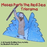 Moses Parts the Red Sea Triorama Bible Craft