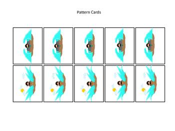Moses Pattern Practice Cards. Preschool Bible History Curriculum Studies. Math