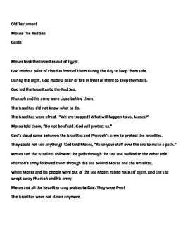 Moses-Red Sea Bible story