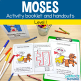 Moses Story Bible Lesson Activities Booklet and Handouts f