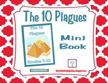 Moses & The 10 Plagues Mini Book Freebie