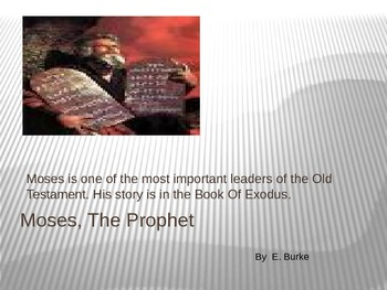 Moses, The Prophet
