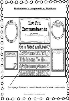 Ten Commandments Lap Book