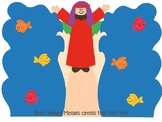 Moses and the Red Sea craft and color sheet
