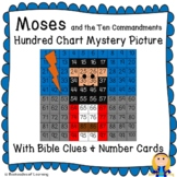Moses and the Ten Commandments Hundred Chart Mystery Picture with Bible Clue