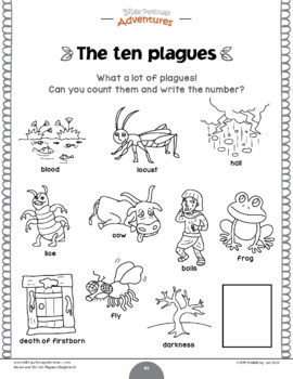 Moses and the Ten Plagues Activity Book for Kids Ages 3-5