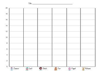 Moshi Picture Graph Template- Stage 1