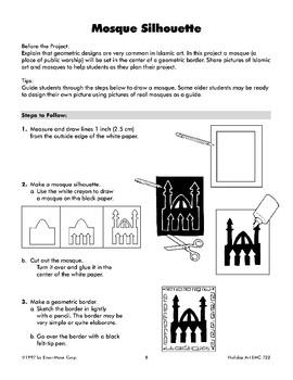 Mosque Silhouette for Eid Al-Fitr
