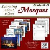 Mosques: Learning About Islam; Slideshow, student note pag