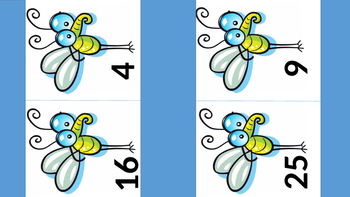 Mosquito Swat  Multiplication NxN  Square Numbers