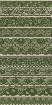 Moss Green Lace Clipart Scrapbook vintage embellishments borders overlays