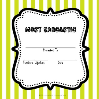 Most... Award Certificates: Ready to Use Blue & Green Printables