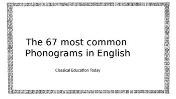 Most Common 67 Phonograms PowerPoint based on Orton-Gillingham list