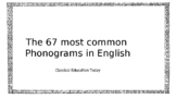 Most Common 67 Phonograms PowerPoint based on Orton-Gillin