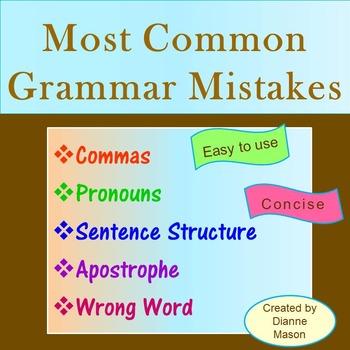 MOST COMMON GRAMMAR MISTAKES PDF