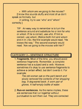 Most Common Grammar Mistakes for Middle and High School English