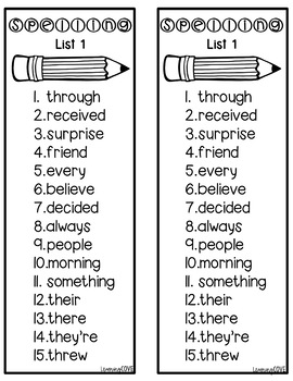 Most Common Misspelled Words Spelling Practice and Tests! - Six Weeks!