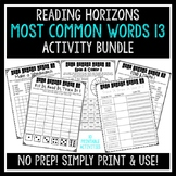 Most Common Word 13 Activities - Reading Horizons